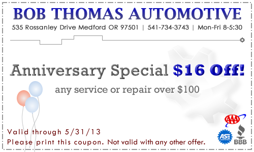 May 2013 BTA Coupon: $16 off any service or repair over $100