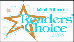 Medford Mail Tribune 2008 Reader's Choice Award for Best Auto Service
