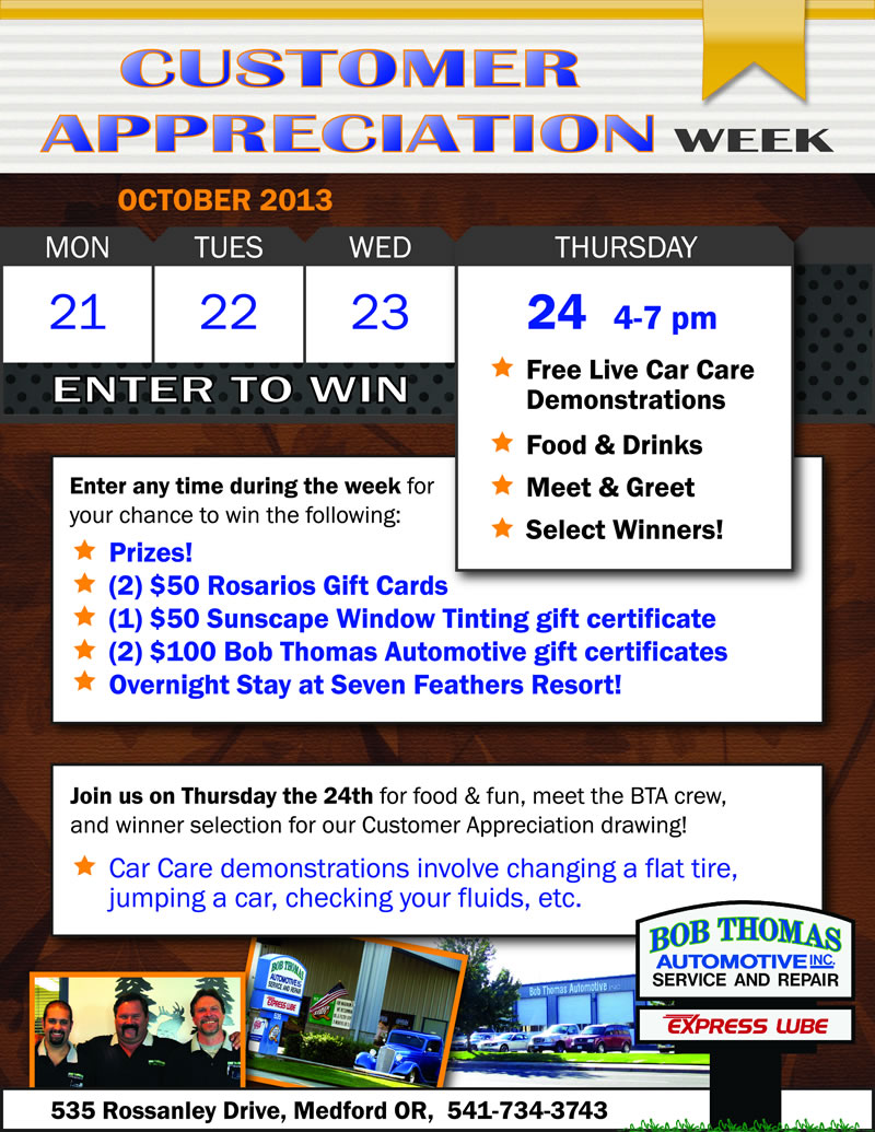BTA Customer Appreciation Week